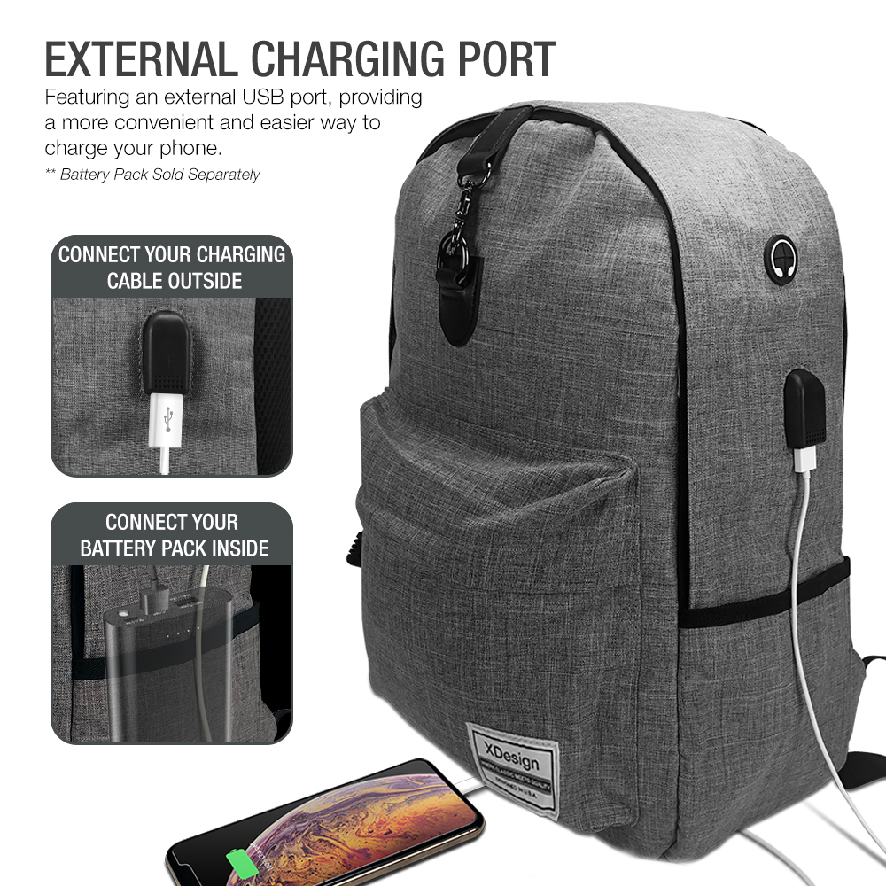 Xdesign Travel Laptop Backpack With Usb Charging Port